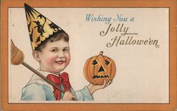 Wishing You a Jolly Hallowe'en Postcard