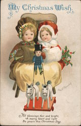 My Christmas Wish - All Blessings Fair and Bright, A Merry Heart and Light, Be Yours this Christmas Day Postcard