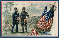 Ah! Shall never the land forget how gushed the life-blood of the brave Postcard
