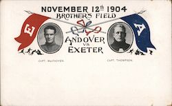 Andover vs. Exeter, November 12th, 1904, Brother's Field Postcard