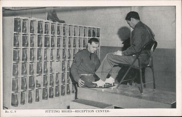 Fitting Shoes - Reception Center Fort Dix New Jersey