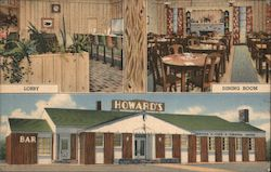 Howard's Cafe Fountain Cafe Dining Room Cocktail Lounge Postcard