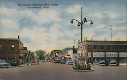 The Square Showing Main Street Postcard