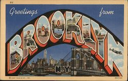 Greetings From Brooklyn Postcard