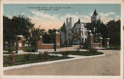 Travelers Gate and Court House Postcard