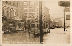 Main & Clinton Street Postcard