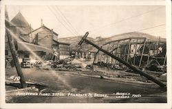 Johnstown Flood 3-17-36, Franklin St. Bridge Postcard