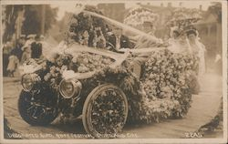 Decorated Auto at the Rose Festival Postcard