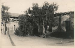 Stucco/Adobe Building, Mission? Postcard