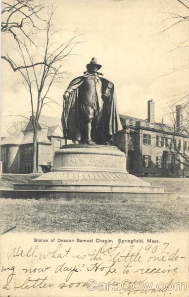 Statue of Deacon Samuel Chapin Springfield Massachusetts