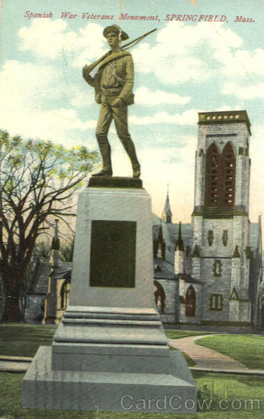 Spanish War Veterans Monument Springfield Massachusetts