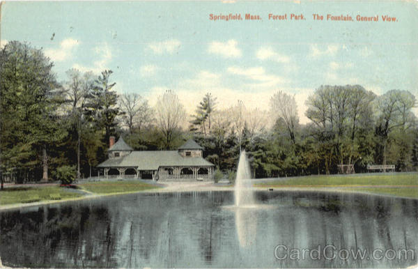 The Fountain, General View, Forest Park Springfield Massachusetts