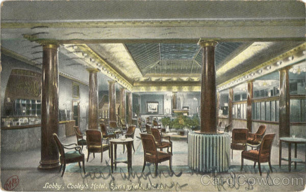 Lobby, Cooley's Hotel Springfield Massachusetts
