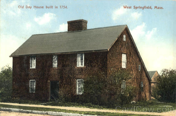 Old Day House built in 1754 West Springfield Massachusetts