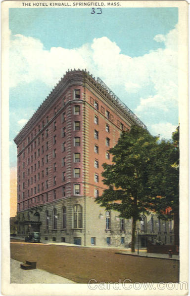 The Hotel Kimball Springfield Massachusetts