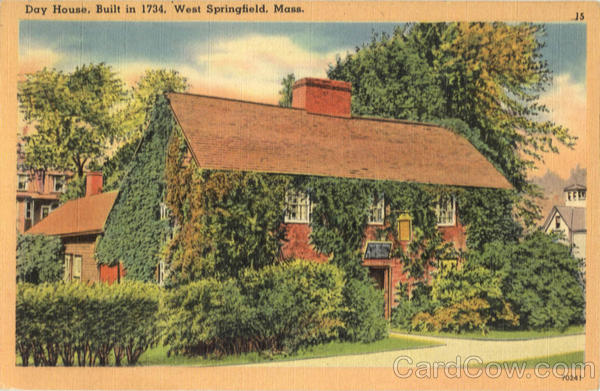 Day House, Built in 1734 West Springfield Massachusetts
