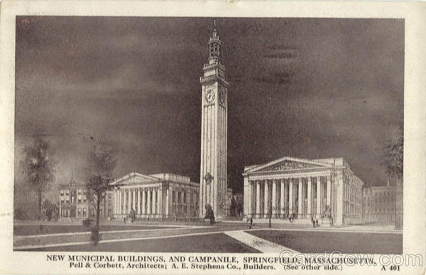 New Municipal Buildings and Campanile Springfield Massachusetts