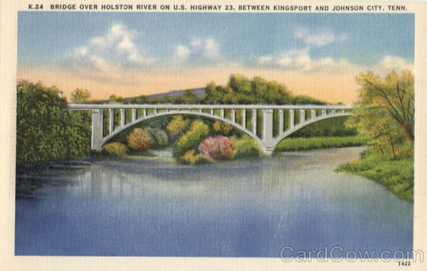 Bridge Over Holston River Kingsport and Johnson City Tennessee