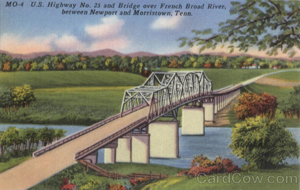 Bridge over French Broad River Newport and Morristown Tennessee