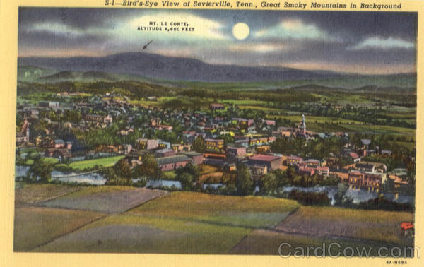 Bird's Eye View of Sevierville Tennessee