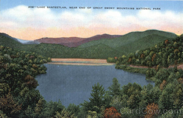 Lake Santeetlah, End of Great Smoky Mountains National Park Tennessee