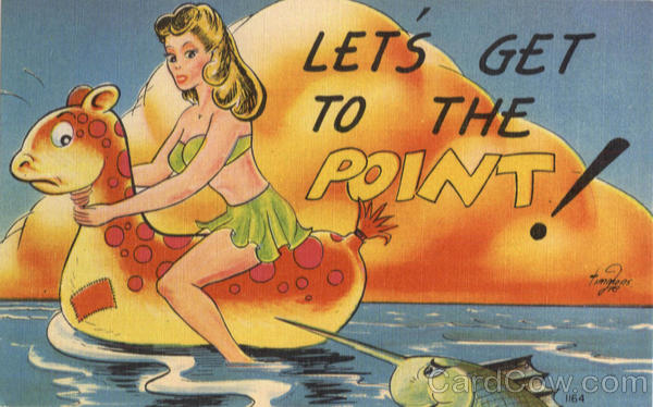 Let's Get to the Point! Swimsuits & Pinup