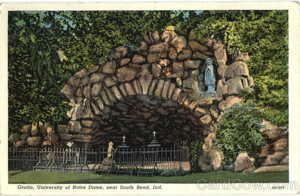Grotto, University of Notre Dame South Bend Indiana