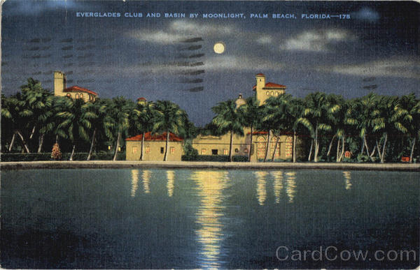 Everglades Club and Basin By Moonlight Palm Beach Florida