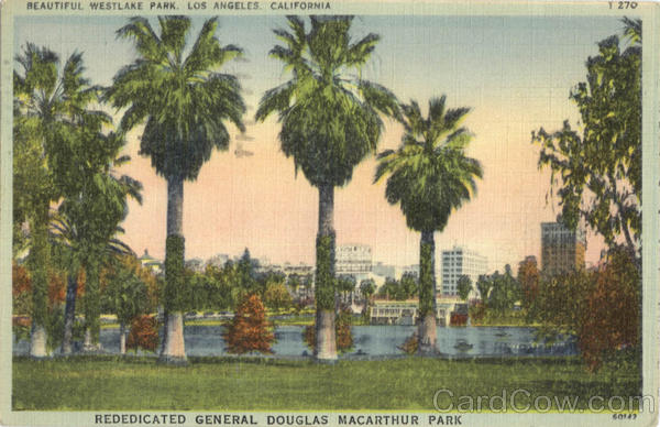 Beautiful Westlake Park Macarthur Park Los Angeles California
