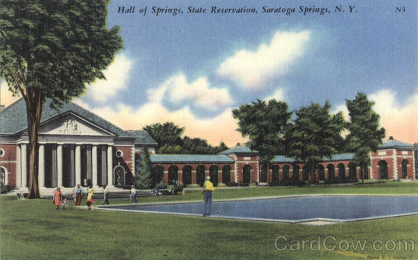 Hall Of Springs, State Reservation Saratoga Springs New York