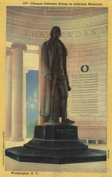 Thomas Jefferson Statue in Jefferson Memorial Washington District of Columbia
