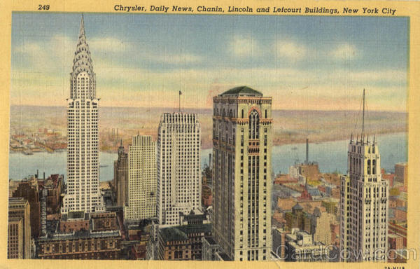 Chrysler, Daily News, Chanin, Lincoln and Lefcourt Buildings New York City