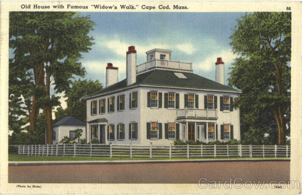 Old House With Famous Widow's Walk Cape Cod Massachusetts