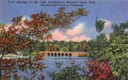 Boating on the Lake, Cumberland Mountain State Park Postcard