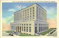 U.S. Court House and Post Office, 9th and Grand Avenue Postcard