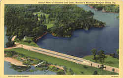 Aerial View of Entrance and Lake, Mariner's Museum Postcard