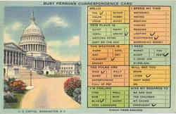 Busy Person's Correspondence Card, U.S. Capitol Postcard