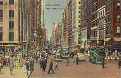 Fifth Avenue Busy Street Scene