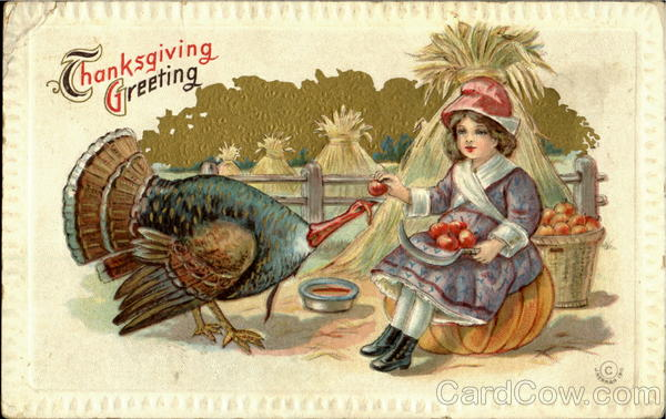 Thanksgiving Greeting Children