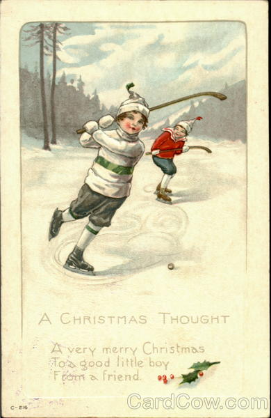 A Christmas Thought Children Hockey