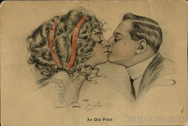 An Old Print Romance & Love