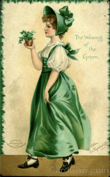 The Wearing Of The Green Vintage Post Card
