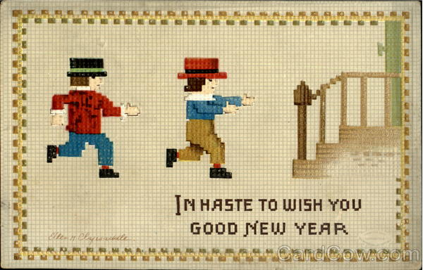 In Haste To Wish You Good New Year Ellen Clapsaddle