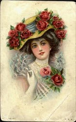 Lovely Roses for a Lovely Lady Postcard