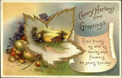 Cheery Harvest Time Greetings