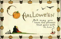 Halloween And may you have the pleasure that goes with it, too. Postcard