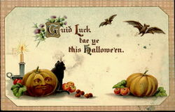 Guid Luck this Halloween Postcard