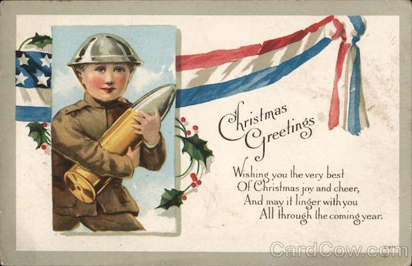 Boy Soldier Christmas Greetings Wishing you the very best Of