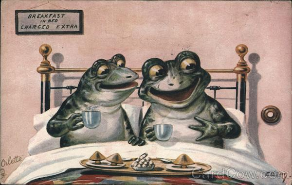 Breakfast in Bed Charged Extra Two Frogs Ellam