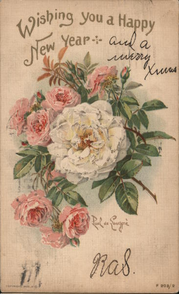 Bouquet of Roses: Wishing You a Happy New Year New Year's